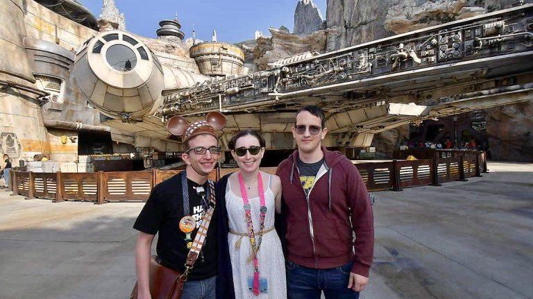 דנה וחברים דיסנילנד פארק מלחמת הכוכבים